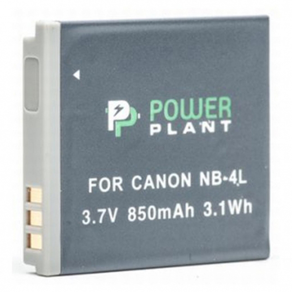 Аккумулятор PowerPlant Canon NB-4L 850mAh DV00DV1006