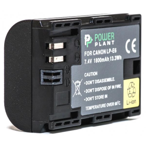 Аккумулятор PowerPlant Canon LP-E6 Chip 1800mAh DV00DV1243