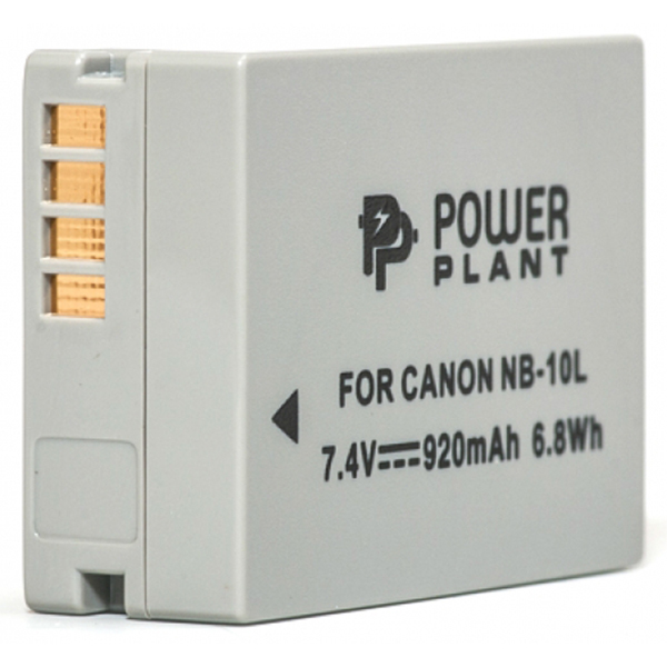 Аккумулятор PowerPlant Canon NB-10L 920mAh DV00DV1302