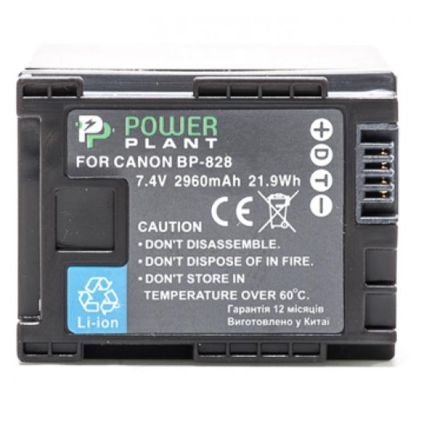 Аккумулятор PowerPlant Canon BP-828 Chip 2960mAh DV00DV1372