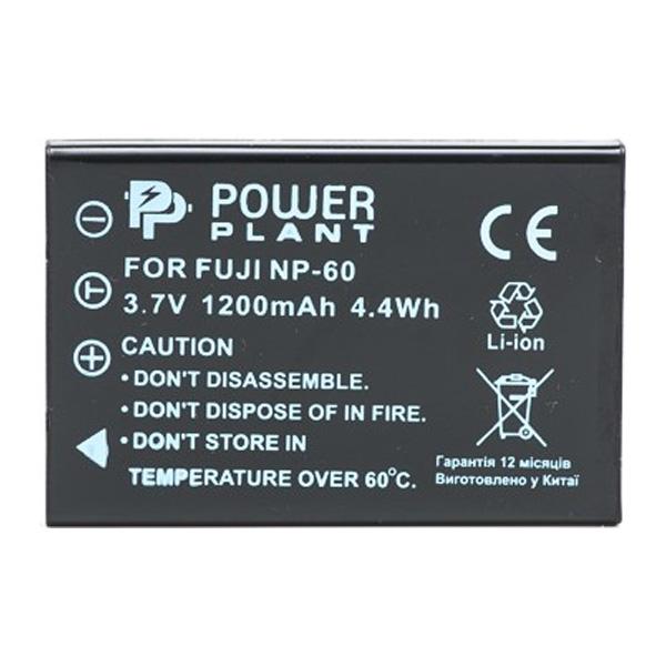 Аккумулятор PowerPlant Fuji NP-60 (SB-L1037, SB-1137, D-Li12, NP-30, KLIC-5000, LI-20B) 1200mAh DV00DV1047