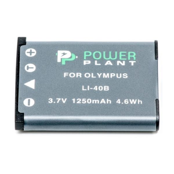 Аккумулятор PowerPlant Olympus Li-40B (Li-42B, D-Li63, NP-45, NP-80, EN-EL10) 1250mAh DV00DV1090