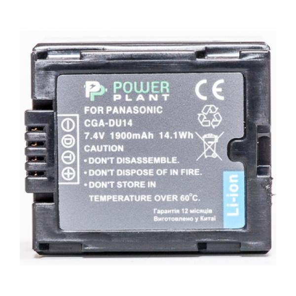 Аккумулятор PowerPlant Panasonic CGA-DU14 1900mAh DV00DV1182