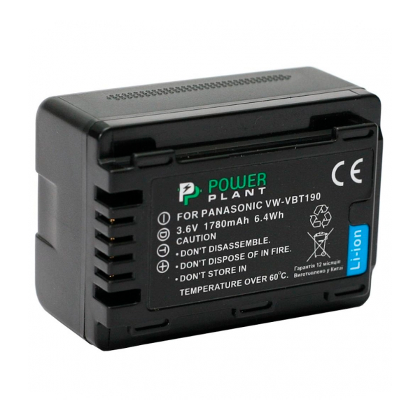 Аккумулятор PowerPlant Panasonic VW-VBT190 1780mAh DV00DV1412