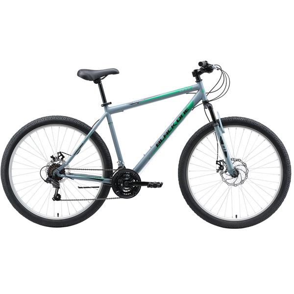"""Велосипед Black One Onix 27.5 D серый/чёрный/зелёный 22"""""""