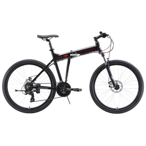 """Велосипед Stark 19 Cobra 26.2 D чёрный/красный/серый 20"""""""