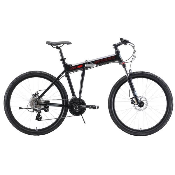 """Велосипед Stark 19 Cobra 26.3 HD чёрный/красный/серый 20"""""""