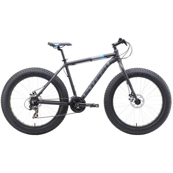 """Велосипед Stark 19 Fat 26.2 D чёрный/оранжевый/серый 20"""""""