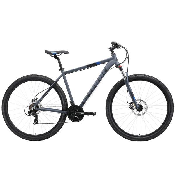"Велосипед Stark 19 Hunter 29.2 HD серый/чёрный/синий 22"""