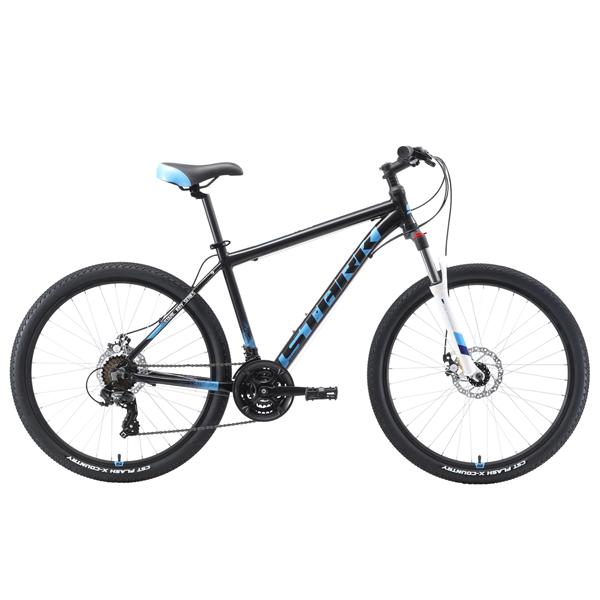 """Велосипед Stark 19 Indy 26.2 D 18"""" (Черный/голубой)"""