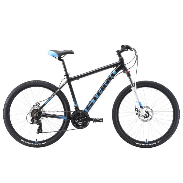 """Велосипед Stark 19 Indy 26.2 D 20"""" (Черный/голубой)"""