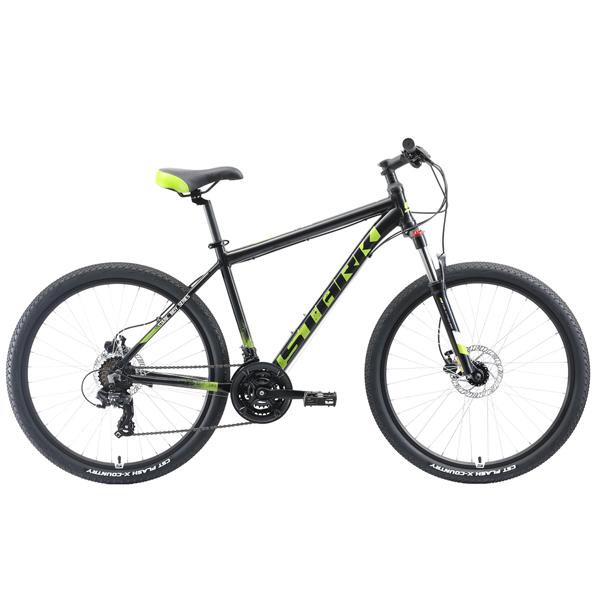"""Велосипед Stark 19 Indy 26.2 HD 16"""" (Черный/зелёный)"""