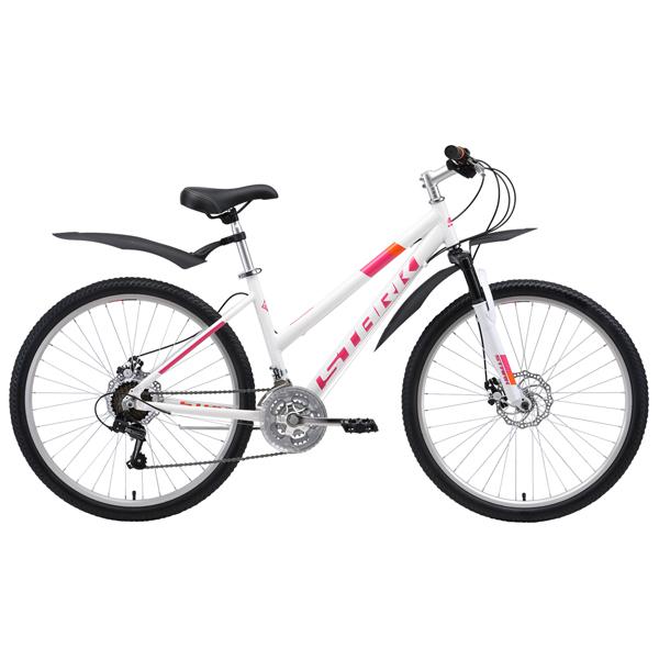 """Велосипед Stark 19 Luna 26.1 D 16"""" (Белый/розовый)"""
