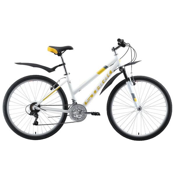 """Велосипед Stark 19 Luna 26.1 V 18"""" (Белый/жёлтый)"""