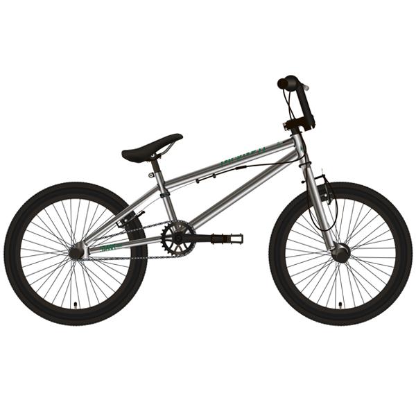 Велосипед Stark 19 Madness BMX 2 (Серебристый/зелёный)