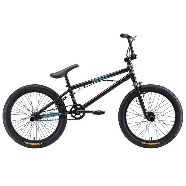 Велосипед Stark 19 Madness BMX 2 (Чёрный/голубой)