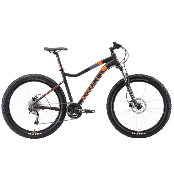 """Велосипед Stark 19 Tactic 27.5 + HD 17"""" (Чёрный/оранжевый)"""