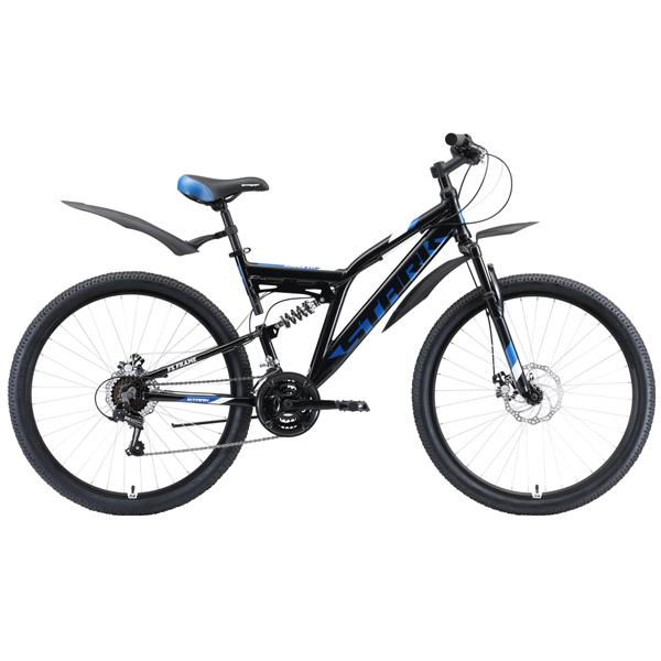 """Велосипед Stark 20 Jumper 27.1 FS D 16"""" (Чёрный/голубой)"""