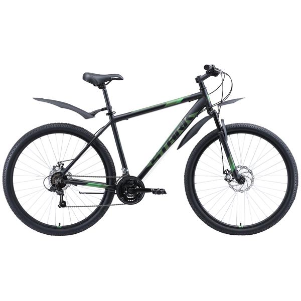 """Велосипед Stark 20 Tank 29.1 D 18"""" (Чёрный/зелёный)"""