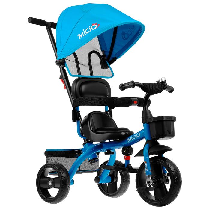 """Велосипед трехколесный Micio Gioia, колеса EVA 10""""/8"""", цвет синий"""