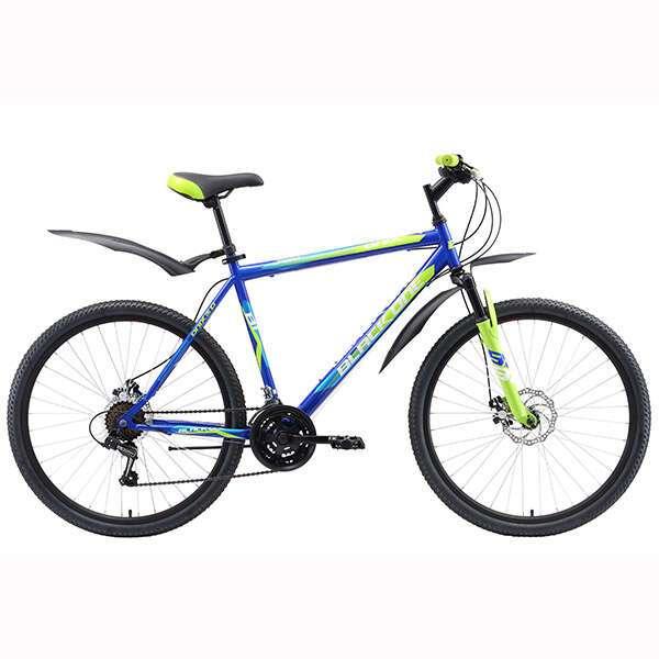 """Велосипед Black One Onix 26 (18"""") (Синий/зелёный/голубой)"""