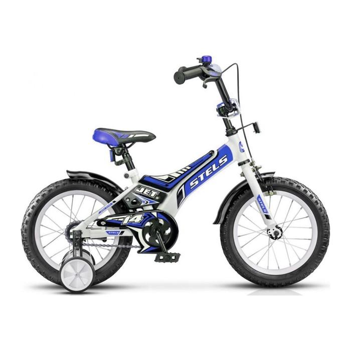 """Велосипед 14"""" Stels Jet, Z010, цвет белый/синий"""