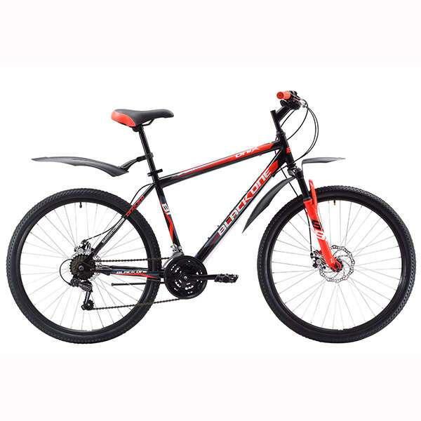 """Велосипед Black One Onix 26 (20"""") (Чёрный/красный/белый)"""