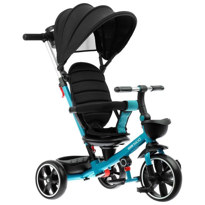 """Велосипед трехколесный Micio Veloce +,колеса EVA 10""""/8"""", цвет изумрудный"""