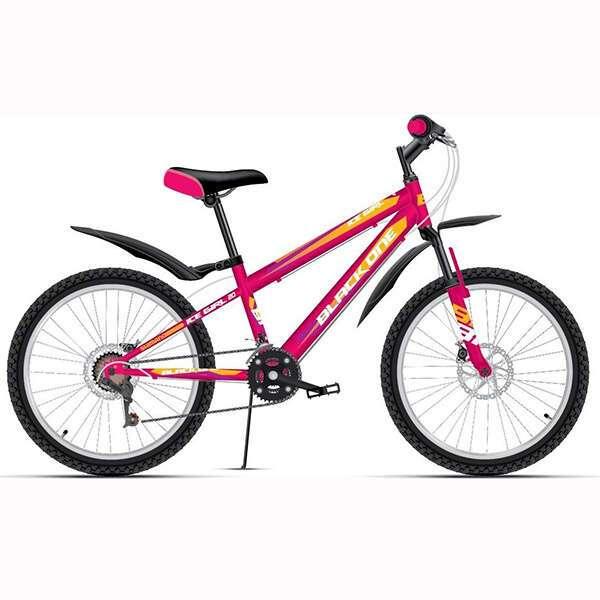 Велосипед Black One Ice Girl 20 D (Розовый/жёлтый/белый)