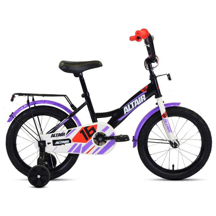 """Велосипед 16"""" Altair Kids, 2020, цвет чёрный/белый"""