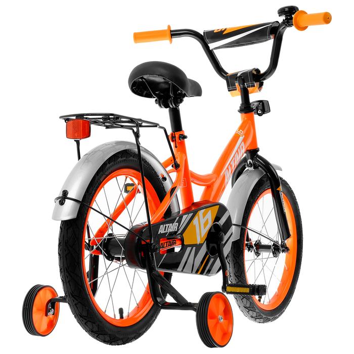 """Велосипед 16"""" Altair Kids, 2020, цвет ярко-оранжевый/белый"""