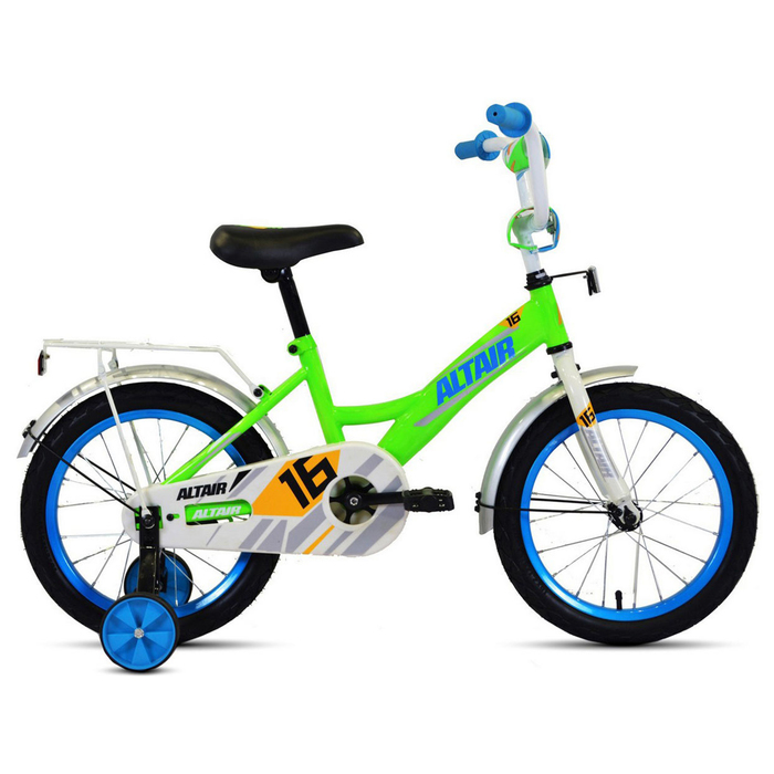 """Велосипед 16"""" Altair Kids, 2020, цвет ярко-зелёный/синий"""