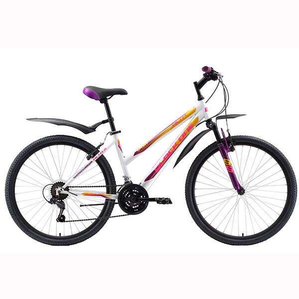 Велосипед Black One Alta 26 (16'') (Белый/фиолетовый)