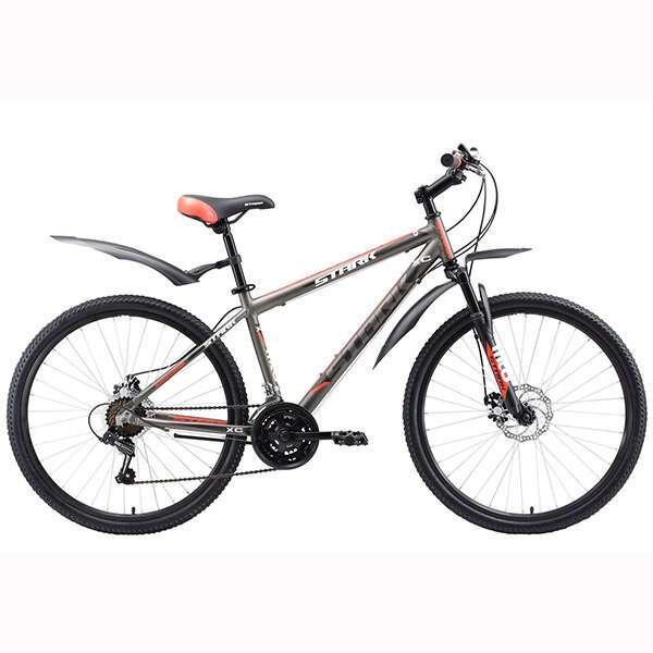 Велосипед Stark Outpost 26.1 D (2017) (18'') (Серый/красный)