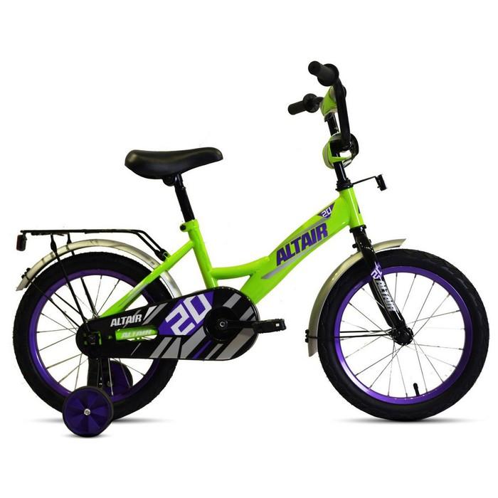 """Велосипед 20"""" Altair Kids, 2020, цвет ярко-зелёный/фиолетовый"""