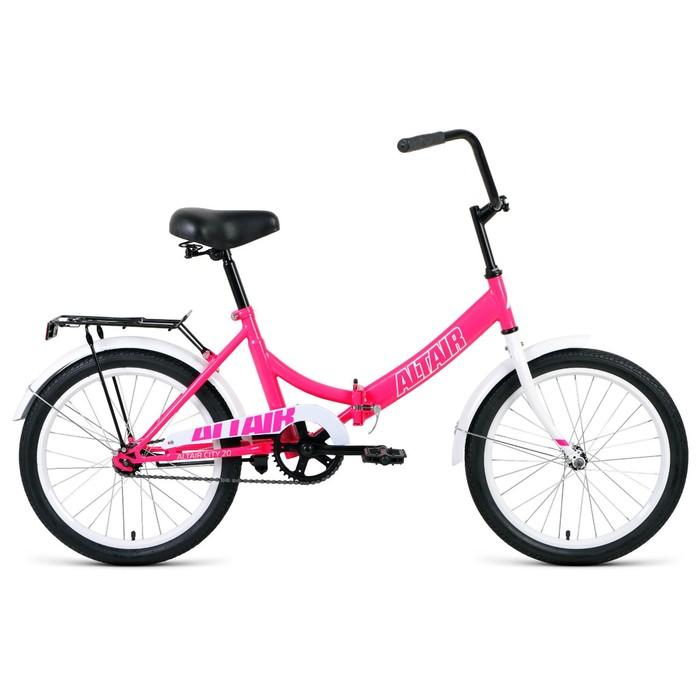 "Велосипед 20"" Altair City, 2020, цвет розовый/белый, размер 14"""