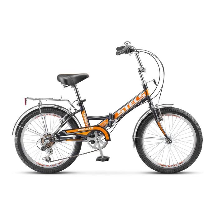 """Велосипед 20"""" Stels Pilot-350, Z011, цвет чёрный/оранжевый, размер 13"""""""
