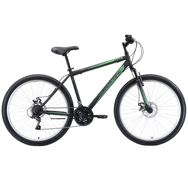 """Велосипед Black One Onix 26 D чёрный/серый/зелёный 18"""""""