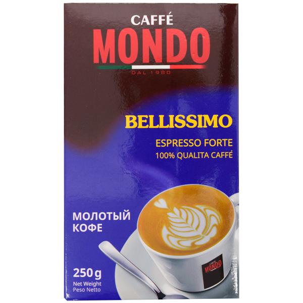 Кофе молотый Caffe Mondo Bellissimo Espresso Forte 250 г