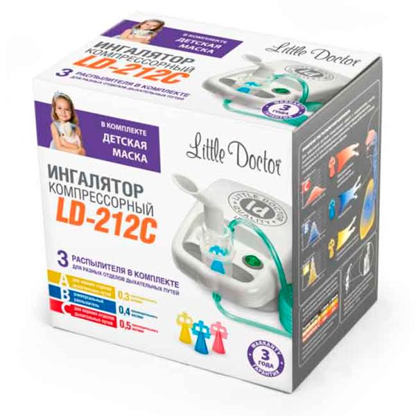 Ингалятор компрессорный Little Doctor LD-212С желтый