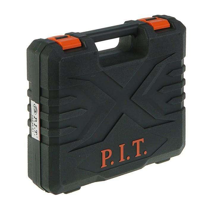 Дрель-шуруповерт P.I.T. PSR 18-D1, 2 Li аккумулятора., 18 В, 30 Нм, 1.5 Ач, кейс