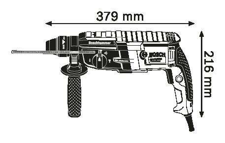 Перфоратор Bosch GBH2-28 Dv (230V EU)