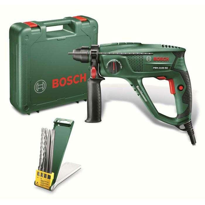 Перфоратор Bosch PBH 2100 RE (06033A9302), 550Вт, SDS-Plus, 1.7 Дж, 5800 уд/мин, 2300 об/мин   40109