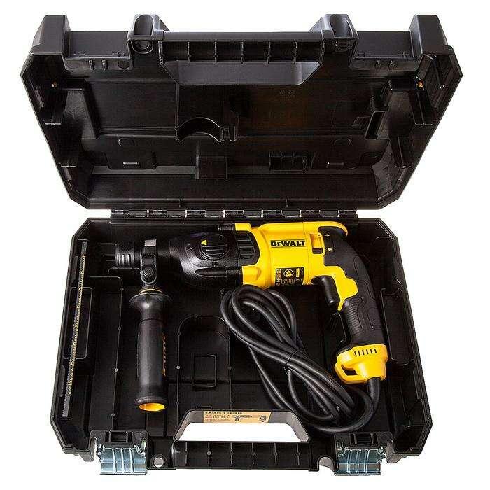 Перфоратор DeWalt D 25133 K, SDS-Plus, 800Вт, 2.9Дж, 1500об/мин, 5540уд/мин, кейс