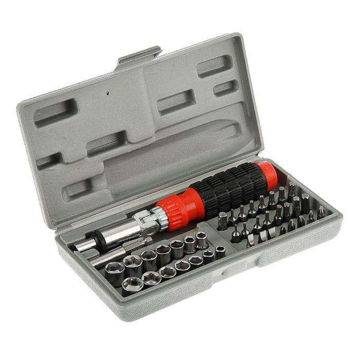 Насадки и сменные головки с держателем Top Tools, 40 шт