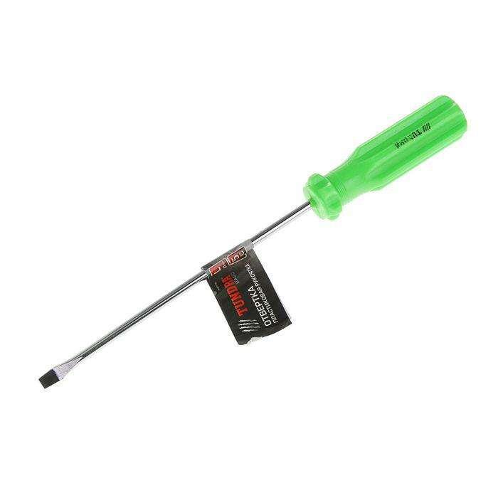 Отвертка шлицевая TUNDRA basic, SL5х150 мм, обработка полировка, пластиковая рукоятка