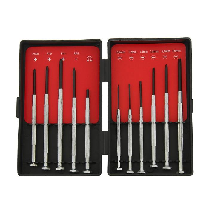 Набор отверток Top Tools, для точных работ, 11 шт., металлическая рукоятка