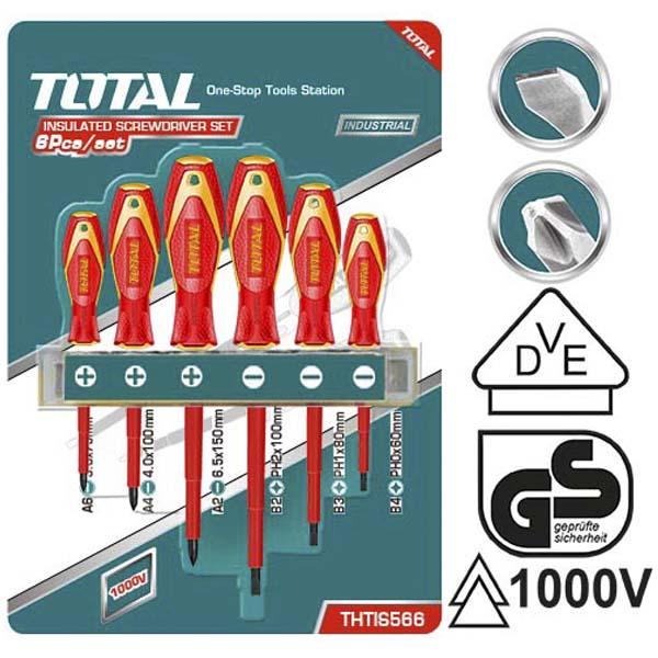 Набор диэлектрических отверток Total THTIS566