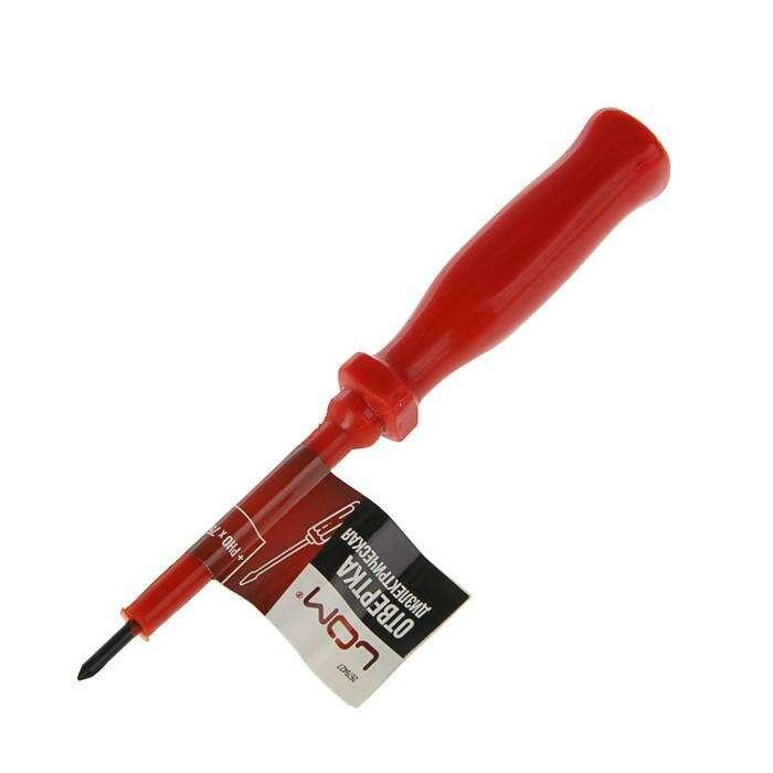 Отвертка диэлектрическая LOM, PH0 х 75 мм