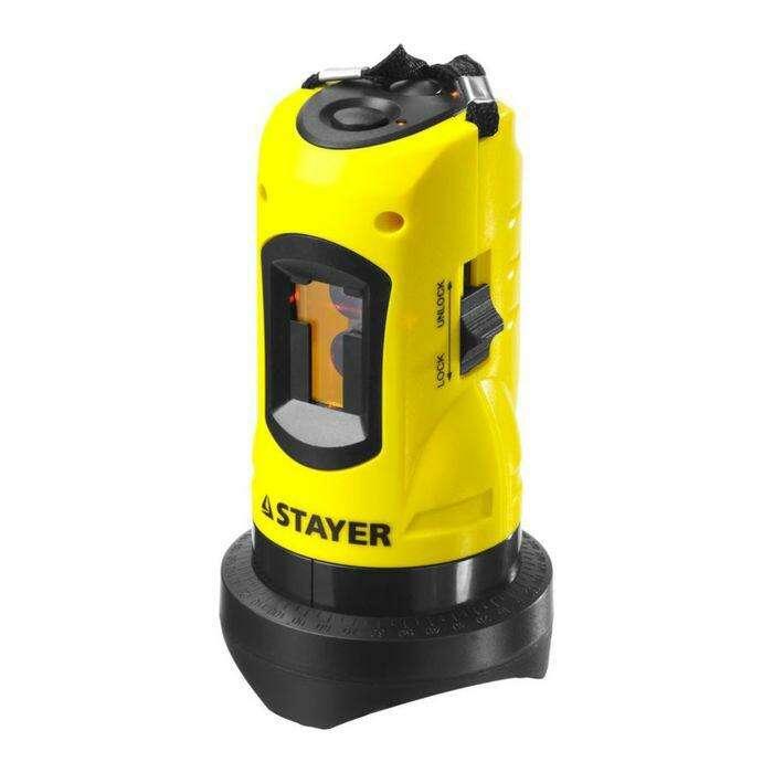 """Нивелир  """"STAYER"""" SLL-1 34960, лазерный, линейный, дальность 10м, точн. +/-0,5 мм/м"""